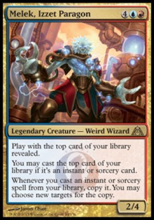 Double casting off your library is pretty Weird